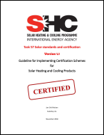 Guideline for Implementing Certification Schemes for Solar Heating and Cooling Products